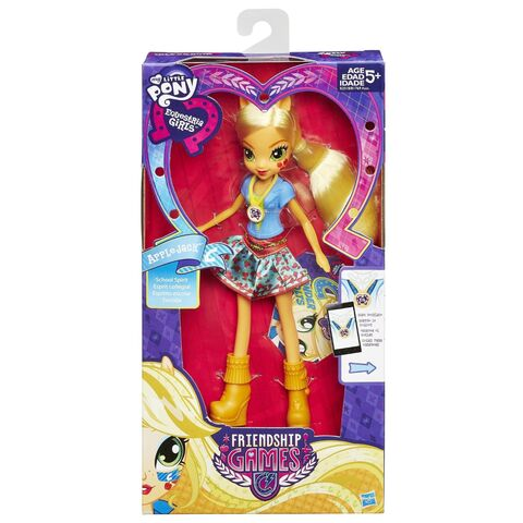 File:Friendship Games School Spirit Applejack doll packaging.jpg