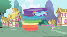Rainbow Dash cleaning Twilight S1E01.png
