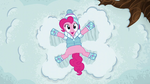 Pinkie Pie making a snow angel S5E5
