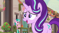 Starlight Glimmer nervously greeting the villagers S6E25