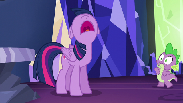 """File:Twilight shouting """"I wasn't included!"""" S5E22.png"""