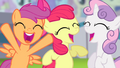 Cutie Mark Crusaders cheering S4E05.png