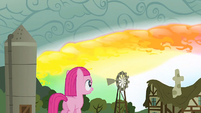 Filly Pinkie sees sonic rainboom S1E23