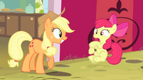 Apple Bloom shocked by AJ S4E17