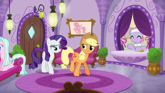 File:Applejack and Rarity return to the spa S6E10.png