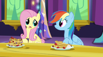 Fluttershy finishes Rainbow's sentence S5E3