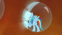 Rainbow's bubble prison glowing S4E26