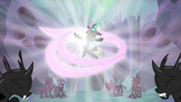 Thorax surrounded by love energy S6E26
