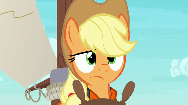 File:Applejack looking very confused S6E22.png