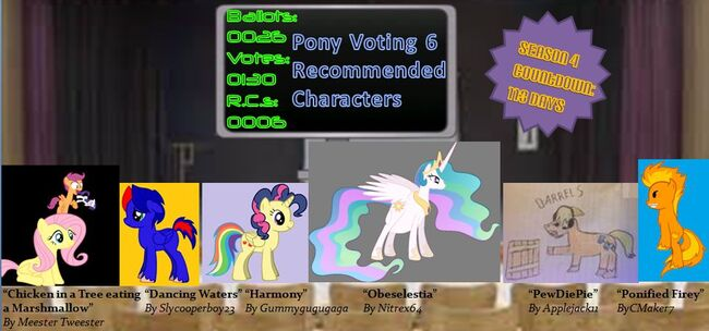 FANMADE Pony Voting 6 RCs