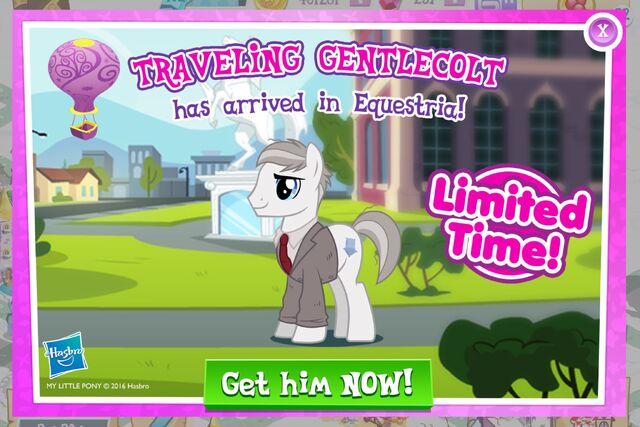 File:Traveling Gentlecolt promotion MLP mobile game.jpg