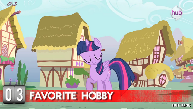 "File:Hot Minute with Twilight Sparkle ""this pony can never read enough"".png"