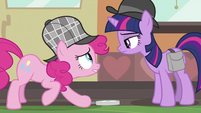 Pinkie Pie looking at Twilight S2E24