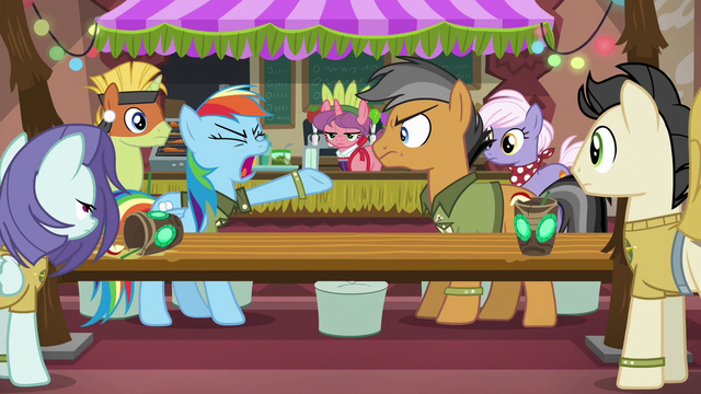 "File:Rainbow Dash ""the coolest hero of all time!"" S6E13.png"