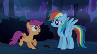 Scootaloo 'not-scary-at-all forest' S3E06