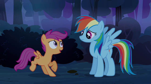File:Scootaloo 'not-scary-at-all forest' S3E06.png