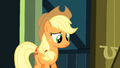 Applejack watching Apple Bloom run off S3E4.png
