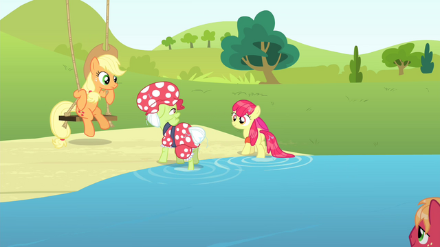 File:Granny Smith and Apple Bloom walking back to land S4E20.png
