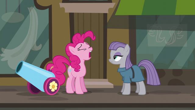 """File:Pinkie Pie """"the second gift you've gotten me today"""" S6E3.png"""