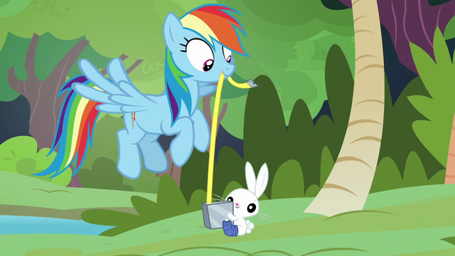 File:Rainbow Dash and Angel using tape measure S7E5.png