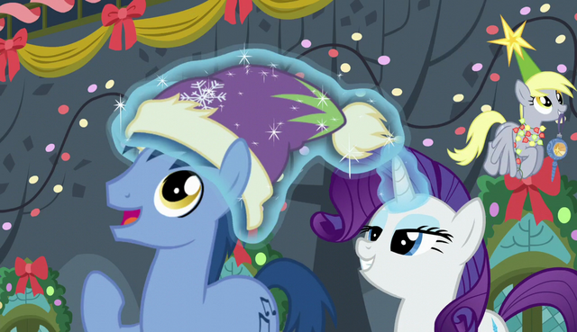 File:Rarity puts a hat on Noteworthy's head S6E8.png