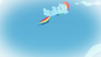 Young Rainbow tries to do a loop-de-loop S6E7