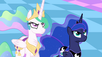 Celestia and Luna unamused S4E02