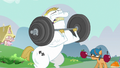 Bulk Biceps lifting weights S6E19.png