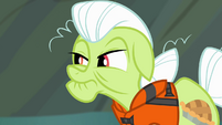 Granny Smith glaring at Applejack S4E09