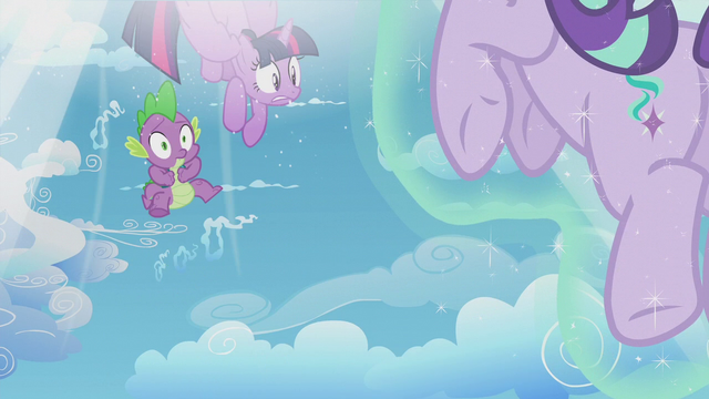 File:Twilight and Spike being sucked back into the time portal S5E25.png