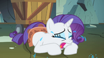 Rarity continues to cry on the floor S1E19