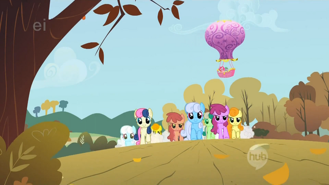 File:The ponies are nearing the final stretch S1E13.png