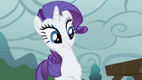 Rarity cringes from mud puddle S1E07