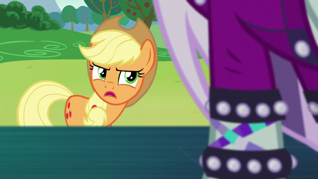 "File:Applejack ""I know somepony that'd prefer"" S5E24.png"