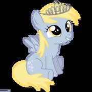 FANMADE Filly Derpy wearing a tiara