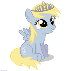 FANMADE Filly Derpy wearing a tiara