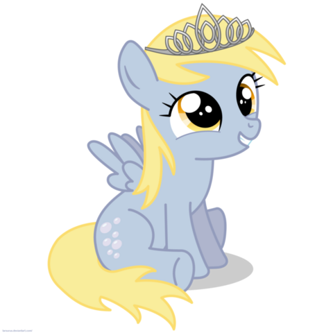 File:FANMADE Filly Derpy wearing a tiara.png