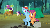 Scootaloo looking slightly worried S3E6