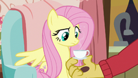 Fluttershy looks disappointed at teacup S7E12