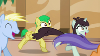 Resort ponies galloping to buy tickets S6E20