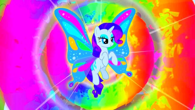 File:FANMADE Rarity rainbow radiant.jpg