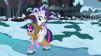Rarity riding Twilight S2E11