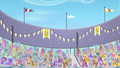 Crowd of cheering ponies S4E05.png