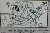 Leaked storyboard Derpy Hooves Rarity Luna Eclipsed