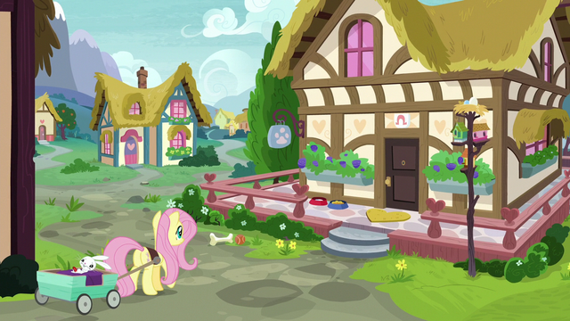 File:Fluttershy takes Angel to Dr. Fauna's clinic S7E5.png