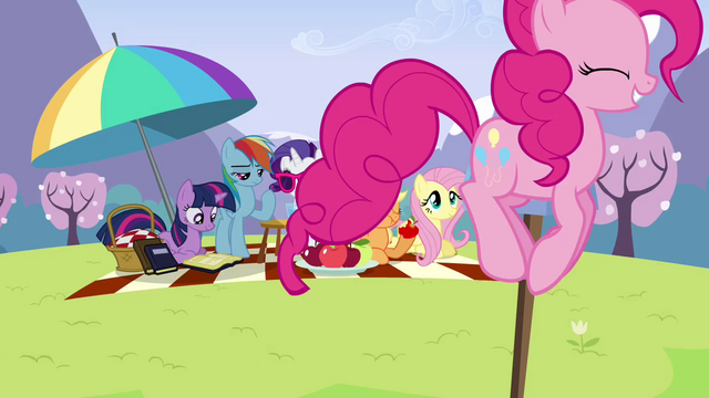 File:Pinkie Pie bouncing around picnic S3E7.png