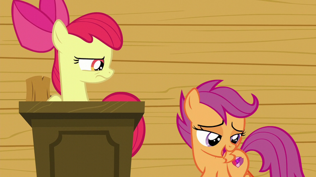 "File:Scootaloo ""how the colors just pop off your flank"" S6E4.png"