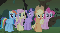 Twilight and friends surprised by Rarity S1E02