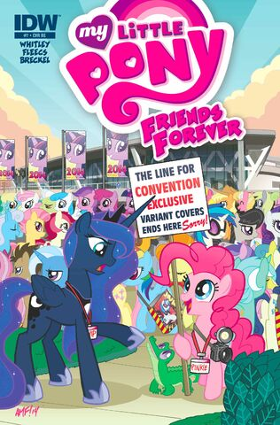 File:Friends Forever issue 7 cover RE BronyCon.jpg