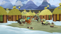 Prince Rutherford and yaks stomping loudly S7E11